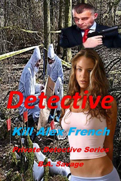 Schlechtes Buchcover für ein Detektiv Krimi